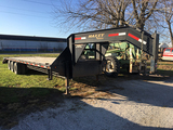 2011 Maxey 27ft+5ft Dove, Triple Tandem Axle, gooseneck trailer, tool box, 3 fold over ramp