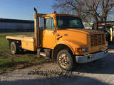 1998 Int 4700 DT466E, Allison Automatic, 11ft flatbed, dually, gooseneck ball, reads 117,190 miles
