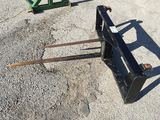 3 prong bale spear, fits NH 820TL Loader