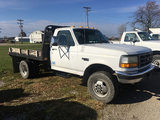 1997 F350 4WD, Diesel, automatic, Knapheide flatbed, dually, 119,155 miles, runs & drives