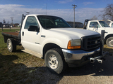 2001 F250, 4WD, Diesel, automatic, reg cab, 8ftx80in flat bed, 230,180 miles, runs & drives