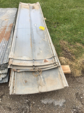 Lot of (25) 10 ft and (11) 8ft used tin (Consigned by HKH Farms)