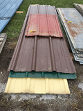 Lot of (10) 12ft Yellow, (5) 10ft Yellow, (5) 10ft Blue/Green, (6) 10ft Brown, (8) 4ft Red New Metal