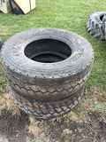 Lot of 2 385/65 R22.5 Tires