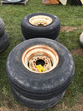Lot of 4 12.5-15 Tires