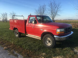 1996 F250 4WD, 351 V8, Auto, Utility Bed, Rear Damage (Consigned by Larry Morrison 402-250-3562)