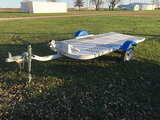 H.M. 5x9 Tilt Bed Trailer, 2 in Ball Hitch, No Title (Consigned by Ethan Cole 573-231-5908)
