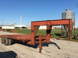 1993 Homemade 20ftx8ft Gooseneck Tandem Axle Trailer, Mesh Steel Floor, No Ramps