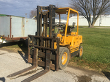 Clark Forklift, 6 cyl gas, 6000lb lift, unknown hours, runs and drives