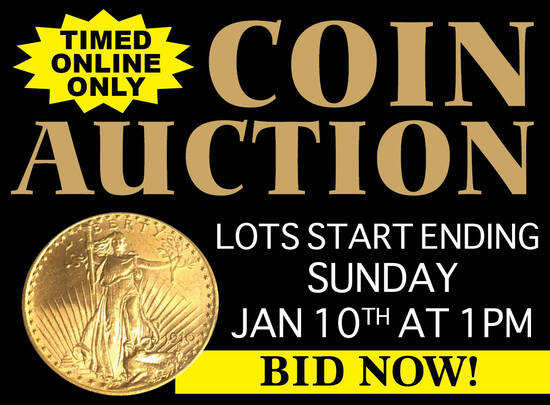 Large Silver & Gold Coin Auction