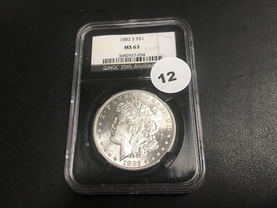 1882-S Morgan Dollar MS63