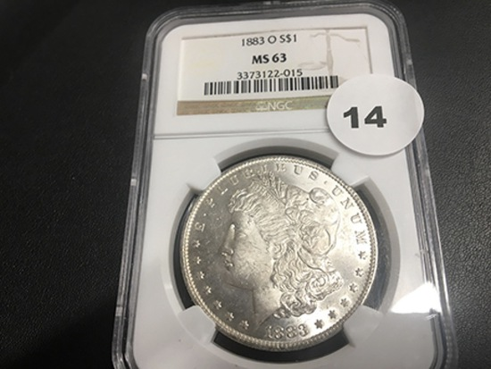 1883-O Morgan Dollar MS63