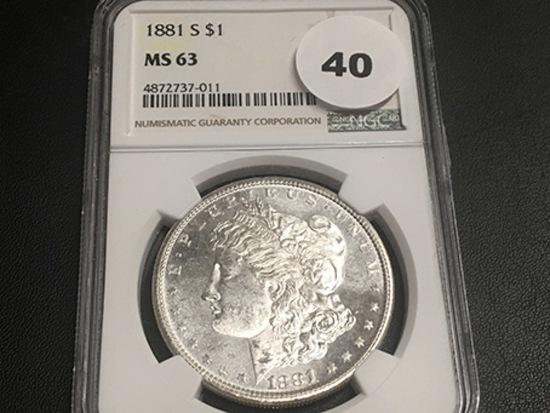 1881-S Morgan Dollar MS62