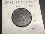 1833 Half Cent