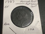 1787 Connecticut Horned Bust Post Colonial cent