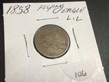 1858 L.L. Flying Eagle Cent