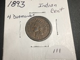 1893 Indian Head 4 Diamonds Unc