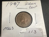 1907 Indian Head Red/Brown NICE