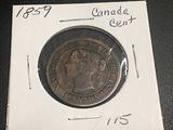1859 Canadian Cent fine