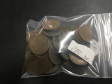 Bag of 50 Pre 30's Wheat cents