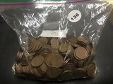 1- Bag 500 Mixed Wheat Cents