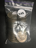 Bag of (40) old Jefferson nickels