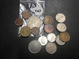 Bag of 15 Foreign coins