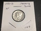 1931 D Mercury Dime