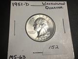 1951-D Washington Quarter BU