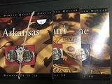 3 cards Statehood Quarters 2 Each in each card Arkansan Missouri Maine UNC