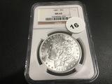 1887 Morgan Dollar MS62