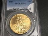 1910 $20 Gold St. Gaudens PCGS MS64