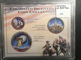 Colorized Bicentennial Coin Collection Quarter Half Dollar