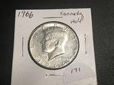 1966 Kenedy Half 40% Silver BU