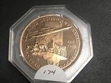 Illinois Sesquicentinnial 1818-1968 Bronze token
