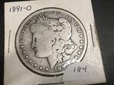 1891 O Morgan Dollar F