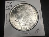 1921 Morgan Dollar GEM UNC