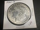 1921 D Morgan Dollar BU
