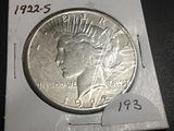 1922-S Peace dollar Fine
