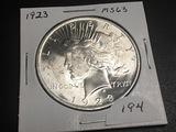 1923 Peace dollar MS63