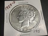 1923-D Peace dollar AU50