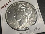 1923-S Peace dollar AU