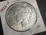 1926-S Peace dollar VF