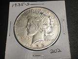 1935-S Peace dollar VF