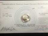 2007 Washington $ With Registration Card UNC