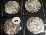 Lot of 4 1921 Morgan Dollars