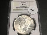 1924 Peace Dollar MS64