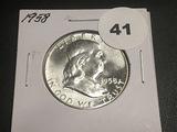 1958 Franklin Half BU