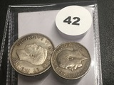1939 Canada Quarter and 1914 Great Britain 6 Pence
