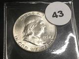 1952 Franklin Half BU